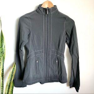 Lululemon Grey Zip Up Mesh Detail Jacket.